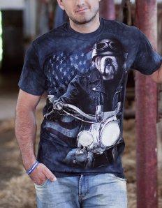 Pánské tričko se zvířecím potiskem (the mountain) Biker Sam