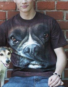 Pánské tričko se zvířecím potiskem (the mountain) Boxer