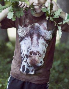 Pánské tričko se zvířecím potiskem (the mountain) Giraffe