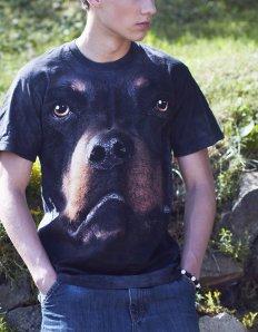 Pánské tričko se zvířecím potiskem (the mountain) Rottweiler