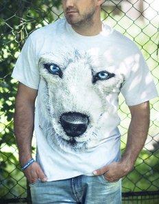 Pánské tričko se zvířecím potiskem (the mountain) White Wolf