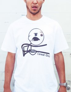 Pánské tričko s potiskem MEME – Cereal guy