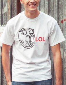 Pánské tričko s potiskem MEME – Lol guy