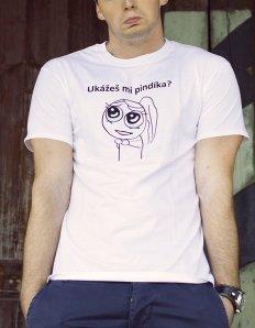 Pánské tričko s potiskem MEME - Ukážeš mi pindíka?