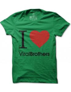 Pánské tričko ViralBrothers – I love viralbrothers zelené