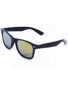 Sluneční brýle Wayfarer – černé – zelená zrcadlová skla