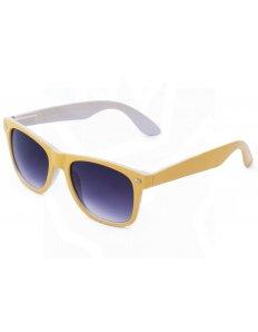 Sluneční brýle Wayfarer – žluté s bílým podbarvením