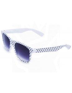Sluneční brýle Wayfarer – bílé s černými puntíky