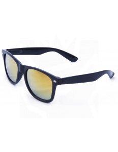 Sluneční brýle Wayfarer – černé – oranžová zrcadlová skla