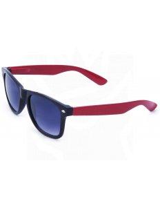Sluneční brýle Wayfarer – černé s červenými nožičkami