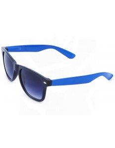 Sluneční brýle Wayfarer – černé s tmavě modrými nožičkami