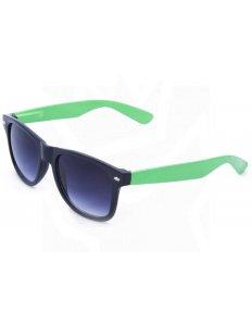 Sluneční brýle Wayfarer – černé se zelenými nožičkami