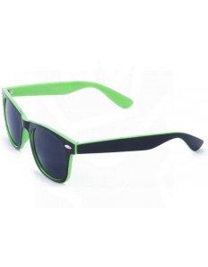 Sluneční brýle Wayfarer – černé – zelené podbarvení