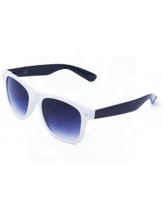 Sluneční brýle Wayfarer – bílé s černými nožičkami
