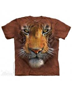 Dámské tričko se zvířecím potiskem (the mountain) Brown Tiger