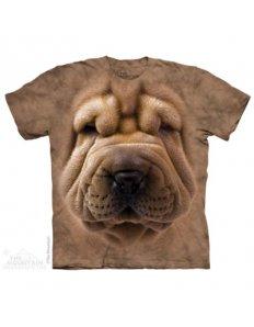 Dámské tričko se zvířecím potiskem (the mountain) Shar Pei