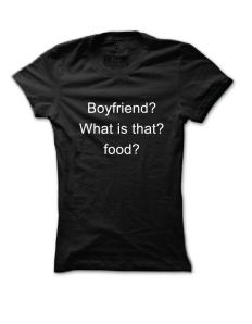 Dámské tričko s potiskem Boyfriend