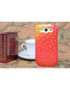 Kryt na mobilní telefon Strawberry - Samsung Galaxy S3