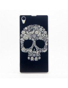 Kryt na mobilní telefon Skull – Sony Xperia Z1