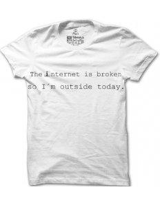 Pánské tričko s potiskem The internet is broken