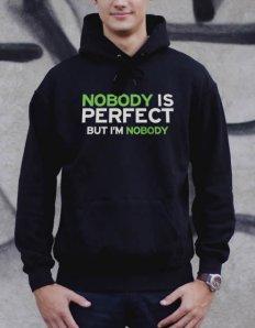 Pánská mikina s potiskem Nobody is perfect  fcb2c41247