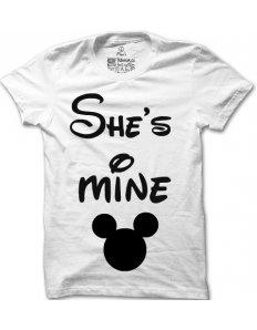 Pánské tričko s potiskem She is mine