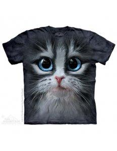 Pánské tričko se zvířecím potiskem (the mountain) Big Eyes Kitten