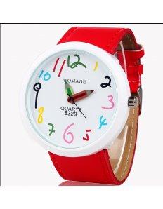 Dámské ciferníkové hodinky Crayons - Red
