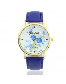 Dámské ciferníkové hodinky Crayons - Blue Blue Flowers