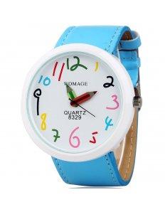 Dámské ciferníkové hodinky Crayons - Blue