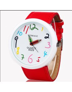 Dámské ciferníkové hodinky Crayons – Red