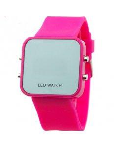 Dámké digitální LED hodinky Digital sport - Pink