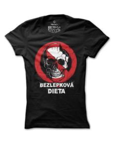 Dámské tričko s potiskem Bezlebková dieta