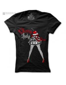 Dámské tričko s potiskem Cherry Lady