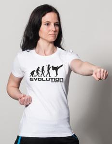 Dámské sportovní tričko Bojové sporty - Karate evoluce