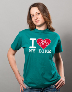 Dámské sportovní tričko Cyklistika – Cyklistické srdce