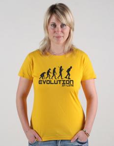 Dámské sportovní tričko Inline brusle - Evoluce inline