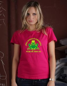 Dámské tričko s potiskem Žába