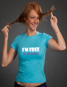 Dámské tričko s potiskem I´m free