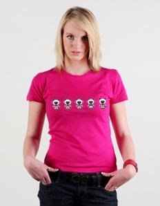Dámské tričko s potiskem Kočičky