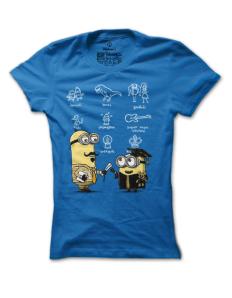Dámské tričko s potiskem Mimoň absolvent