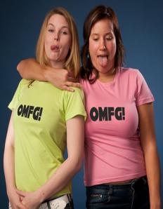Dámské tričko s potiskem OMFG