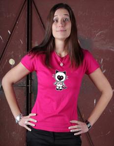 Dámské tričko s potiskem Sexy kočka