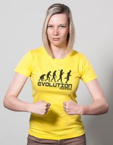 Dámské sportovní tričko Běžecká - Běh evoluce