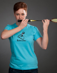 Dámské sportovní tričko Badminton – Míček