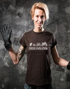 Dámské sportovní tričko Motorkářské - Cross evolution