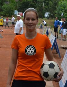 Dámské sportovní tričko Nohejbal - Hraju nohejbal