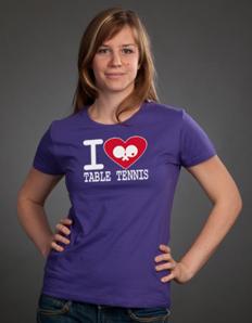 Dámské sportovní tričko Stolní tenis - Pingopongové srdce