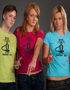 Dámské tričko s potiskem Nuda