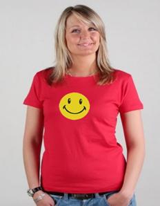 Dámské tričko s potiskem Smile